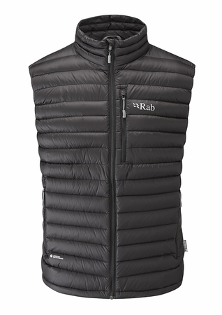 Rab Mens Microlight Vest Black/ Shark (close out)