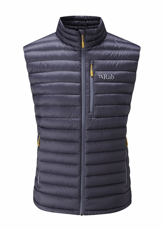 Rab Mens Microlight Vest Steel/ Dijon
