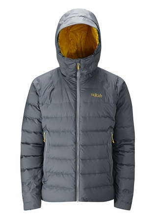 Rab Mens Valiance Jacket Steel/ Dijon