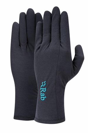 Rab Womens Merino+ 160 Glove Ebony (Close Out)