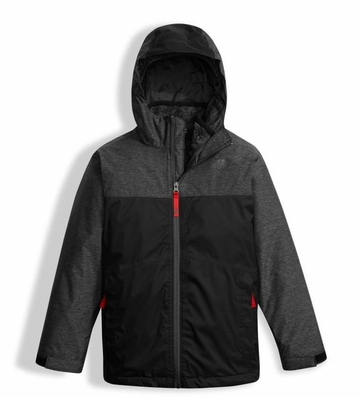 The North Face Boys Chimborazo Triclimate Jacket TNF Black Heather (close out)