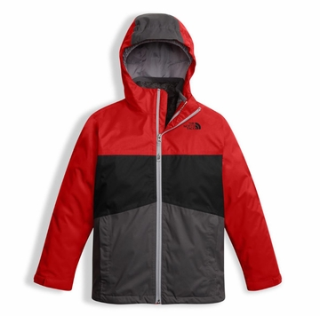 The North Face Boys Chimborazo Triclimate Jacket TNF Red (close out)