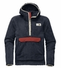 The North Face Mens Campshire Pullover Hoodie Urban Navy/ Bossa Nova Red