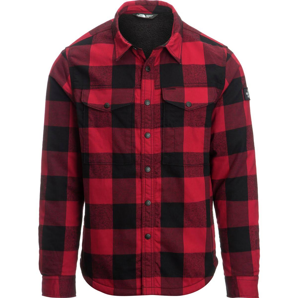 5050d3093 The North Face Mens Hike-In Sherpa Shirt Rage Red Plaid
