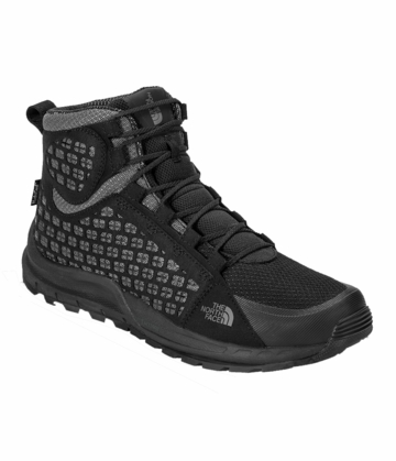 The North Face Mens Mountain Sneaker Mid TNF Black/ Smoke