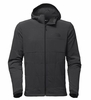 The North Face Mens Mountain Sweatshirt Full Zip Asphalt Grey/ TNF Black