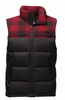 The North Face Mens Nuptse Vest TNF Black/ Cardinal Red Grizzly Print (Close Out)