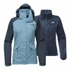 The North Face Womens Boundary Triclimate Jacket Provincial Blue/ Ink Blue
