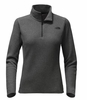 The North Face Womens Glacier 1/4 Zip TNF Dark Grey Heather/ TNF Black