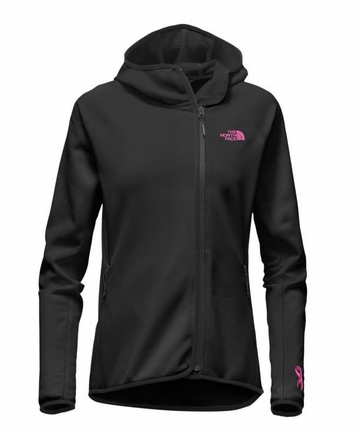 The North Face Womens Pink Ribbon Arcata Hoodie TNF Black Meadow Pink