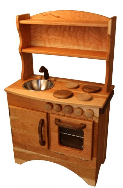 Camden rose simple hearth wooden play kitchen natural for Kitchen set simple