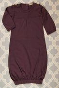 Gathered Infant Sacque - Plum Bunny by Kate Quinn Organics