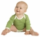 Long-Sleeve Lap Neck Onesie - Kate Quinn Organics