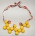"Mathilde de Turckheim Vintage Necklace - ""Red and Yellow Liberty"""