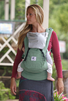 3f0c97924fa Organic Ergo Baby Carrier - Sea Green with Silver Lining