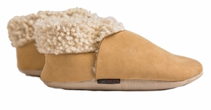 Organic Lambskin Toddler Bootie in Natural - Kina Collection by NUI Organics