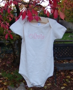 Personalized Organic Cotton Baby Onesie