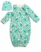 Winter Water Factory Baby Set-  Birds and Berries in Turquoise