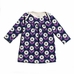 Winter Water Factory Rocking Horse Baby Dress in Navy and Lavender Daisies
