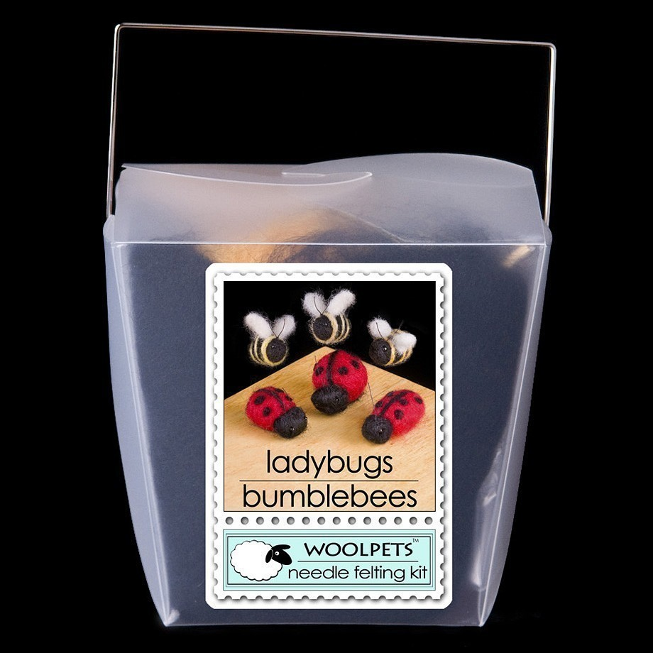 Made in the USA. Lady Bugs and Bees Wool Needle Felting Craft Kit by WoolPets