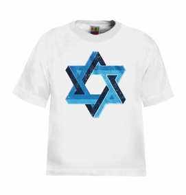 3D Star of David Kids T-Shirt
