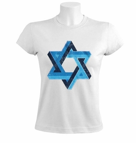 3D Star of David Women T-Shirt