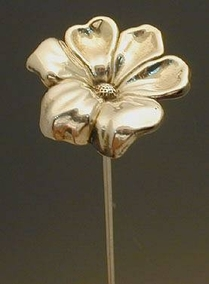 Artisan Sterling Silver Flower Model