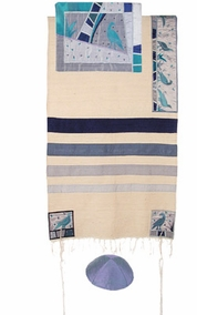 "Birds Tallit CAT# TSD- 1, 21"" X 73"""