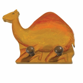 Camel Painted Wooden Key Hanger CAT# WWH- 2