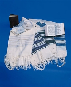 """Carmel"" Jewish handmade Talit woven of clean wool for grown-up 50X180cm"
