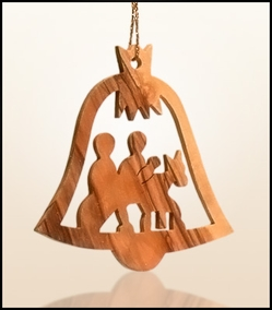 Christmas ornaments 2D hanging olivewood CHO-21