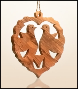 Christmas ornaments 2D hanging olivewood CHO-34