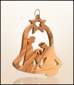 Christmas ornaments 2D hanging olivewood CHO-S12