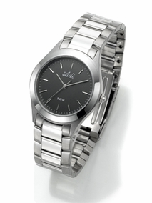 Classic stainless steel watch - 424 - black