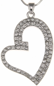 Diamonds-like Heart Pendant