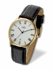 elegant classic gold-plated gent's watch  - 2092