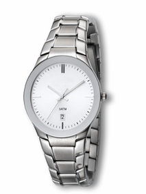Elegant gent's watch - 2848 - white