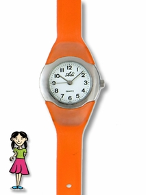 Fashionable colored girls' watch - 211