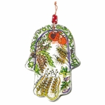 Glass Hamsa Decorations