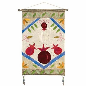 Gold Pomegranates Wall Hanging CAT# SH - 8