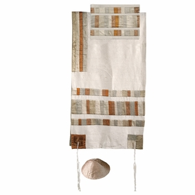 "Gold Tallit Set CAT# TRA - 2, 42"" X 77"""
