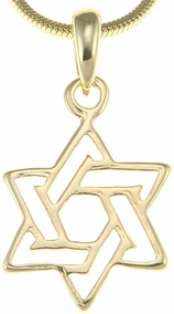Golden Star of David Pendant