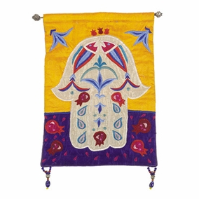 Hamsa – Fish – Multicolor Wall Hanging CAT# HS-1
