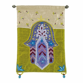 Hamsa – Flowers – Gold Wall Hanging CAT# HL-4