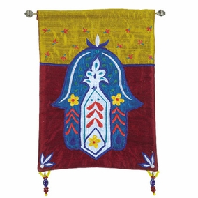 Hamsa – Flowers – Multicolor Wall Hanging CAT# HL-5