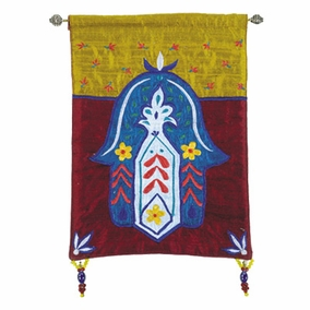 Hamsa – Flowers – Multicolor Wall Hanging CAT# HS-4