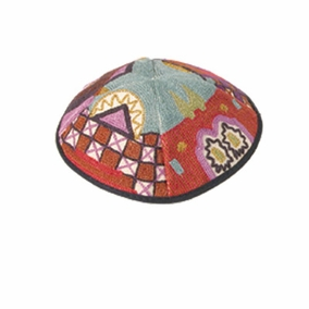 Hand Embroidered Kippah ( YAE-1) CAT# YAE-1