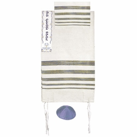 "Hand Made Tallit CAT# TSW- 1,42"" X 71"""