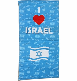 I Love Israel Towel