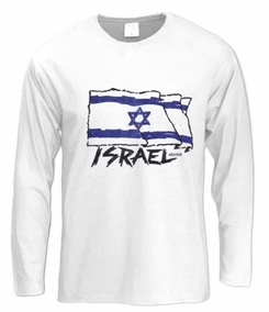 Israel Flag Long Sleeve T-Shirt